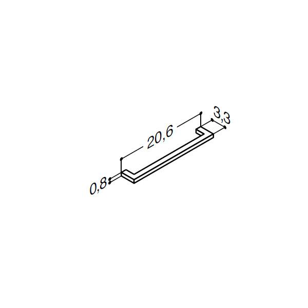 Greb i krom - 206 mm - Scanbad