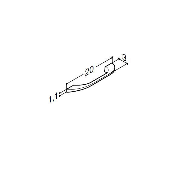 Greb i krom - 200 mm krom eller sort