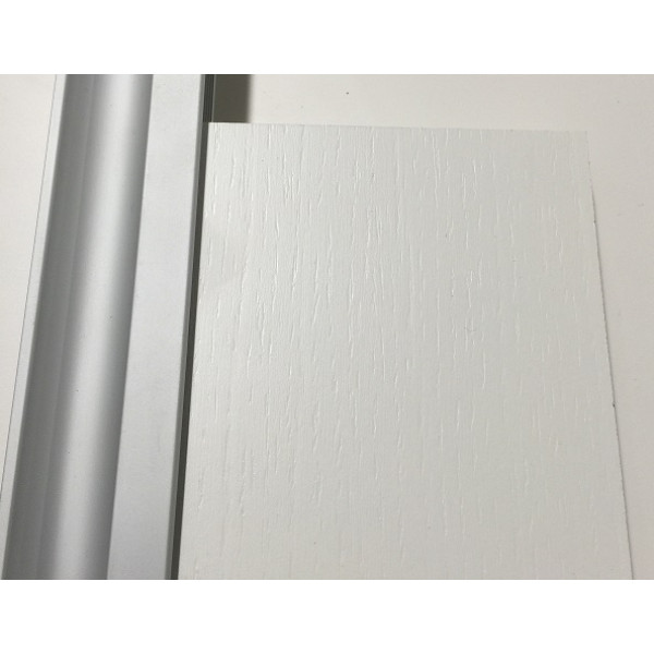 Basic-line Standard skydedør i hvid struktur - Bredde 90 cm
