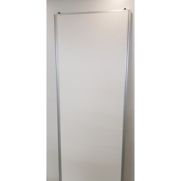 Basic-line Standard skydedør i hvid glat - Bredde 80 cm