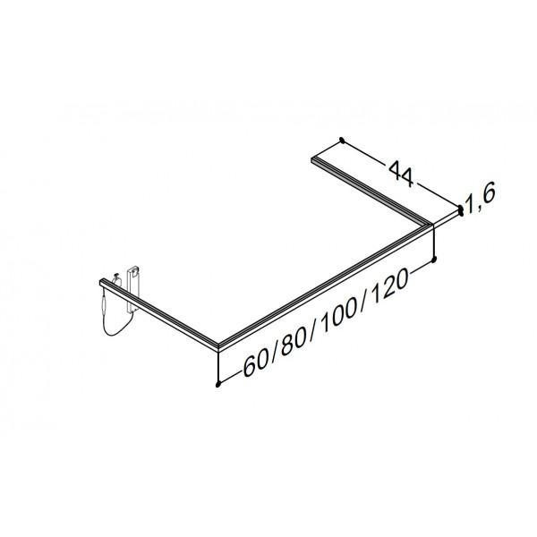Scanbad lysliste under vask til 44 cm vaskeskab - 44 x 80 x 1,6 cm