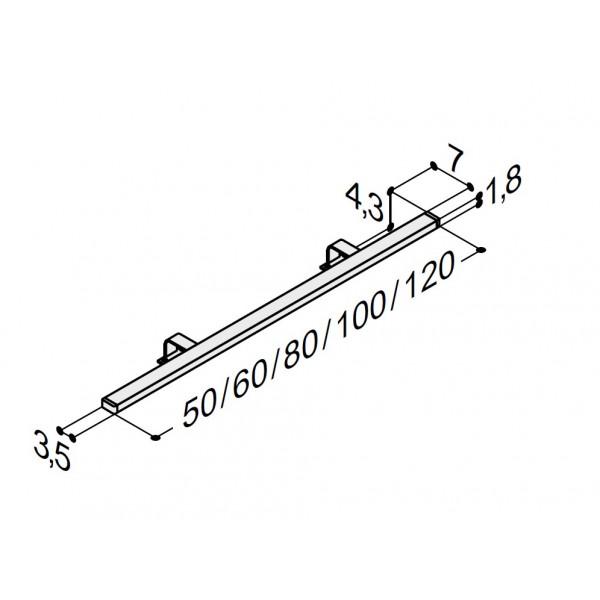 Scanbad plano lampe i 5 forskellige længder