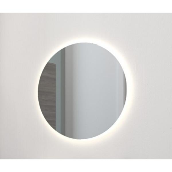 Rundt spejl med integreret LED lys - Ø75cm - Scanbad