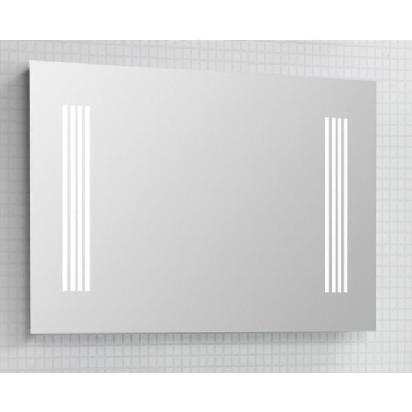 Scanbad spejl med integreret LED belysning - 100 x 70 cm