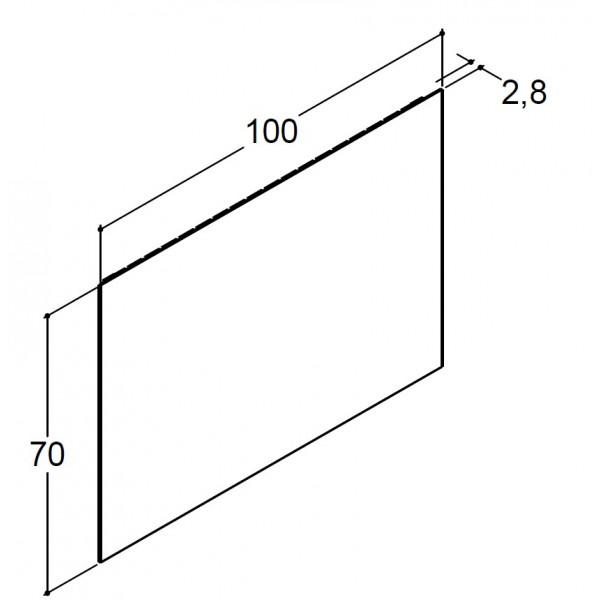 Scanbad spejl uden belysning - 100 x 70 cm - Uden lysstyring