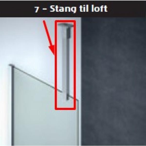 Scanbad stang 100cm for loftsmontage til model D - Fastvæg