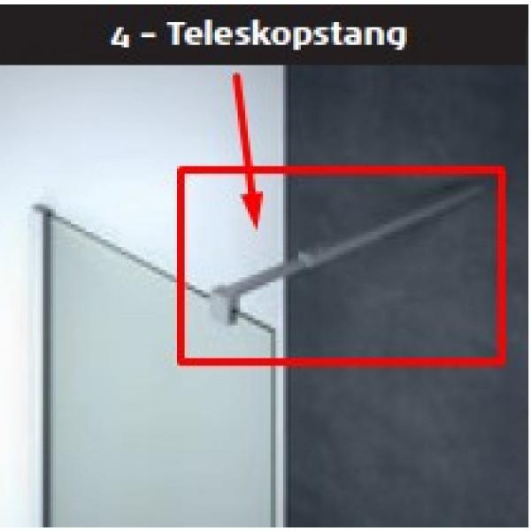 Scanbad teleskopstang 60-100cm til model D - Fastvæg