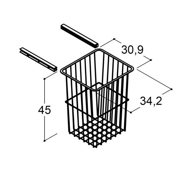 Scanbad vasketøjs trådkurv til højskab på 40cm