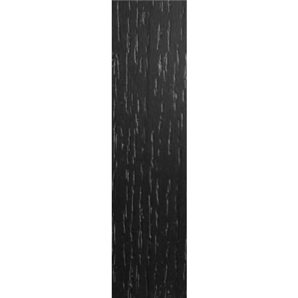 Anslag Sort Eg struktur melamin 16x100x2650mm (Tilpasses i længde af kunden)