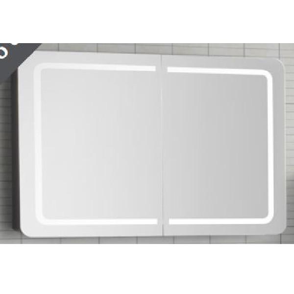 Scanbad spejl med dobbelt låge og integreret LED belysning - 100 cm