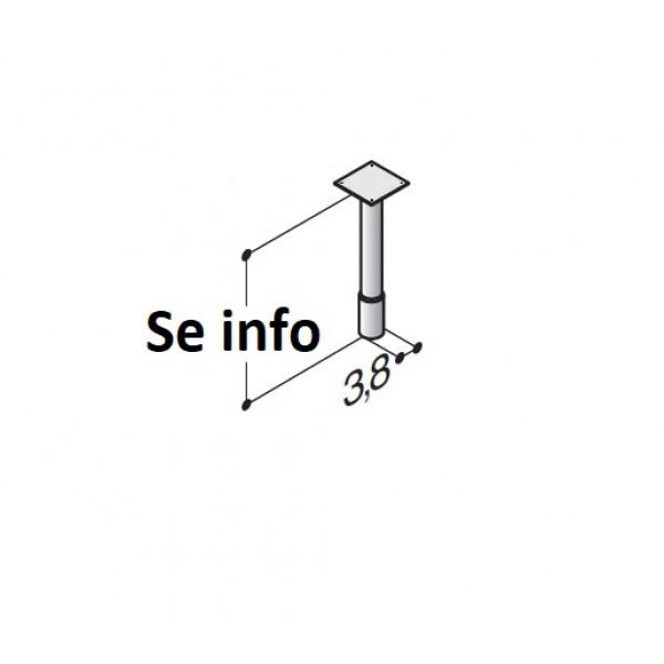 Støtteben til badeværelse fra 19 - 40 cm - Scanbad