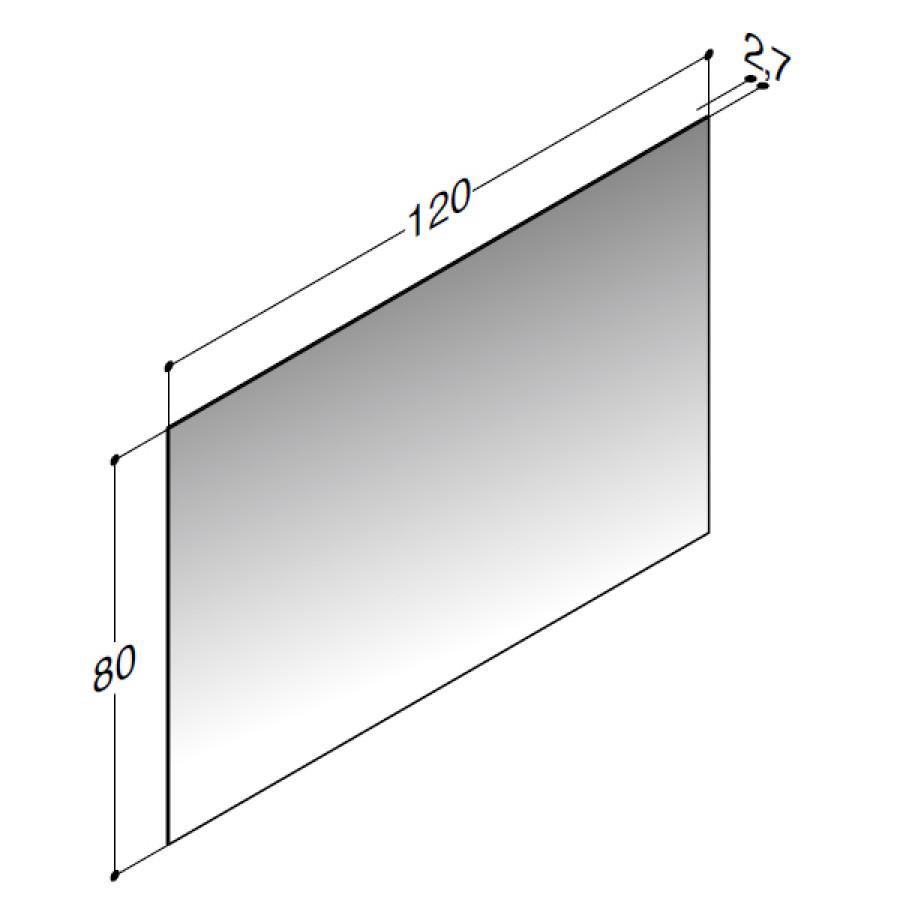 Vellidte Scanbad spejl 120 x 80cm uden belysning - Inkl. lysstyring KZ-21