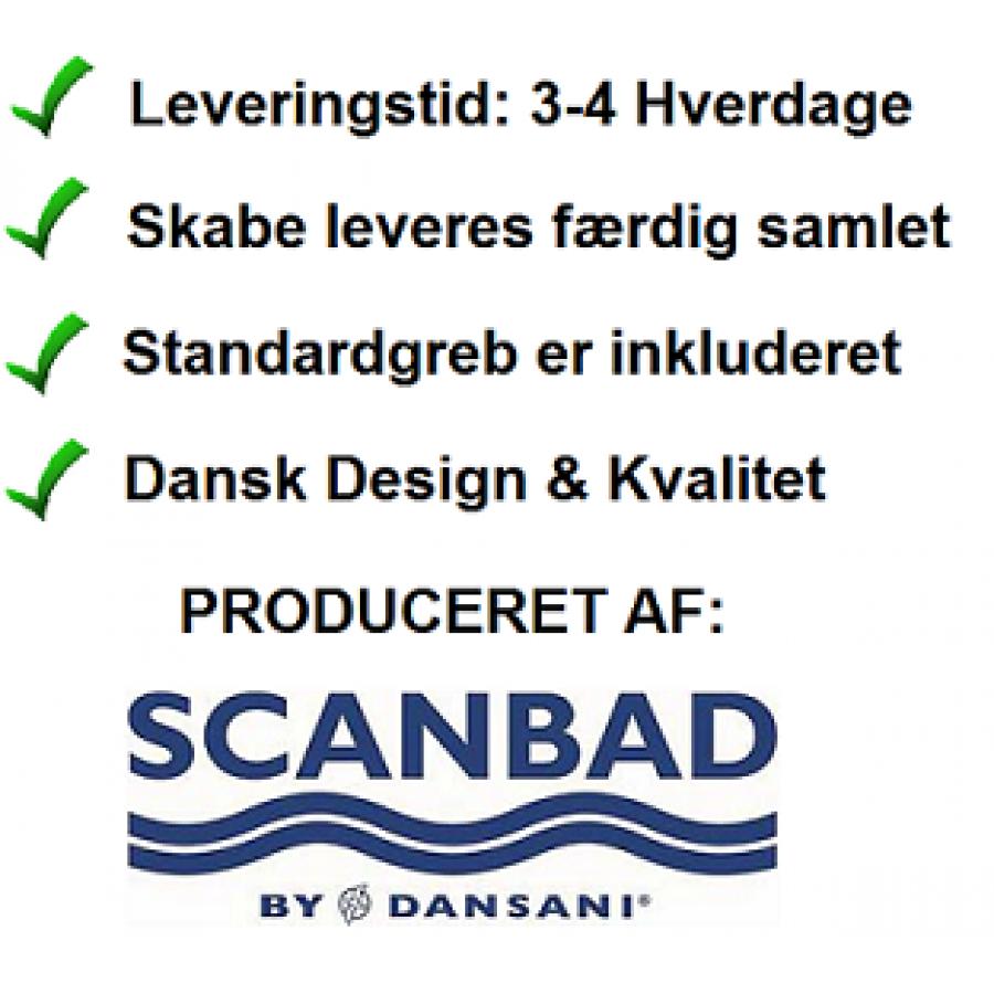 503afe8e9 Scanbad Multo+ med Uno vask og skuffer - 50cm Smart lille badmøbel