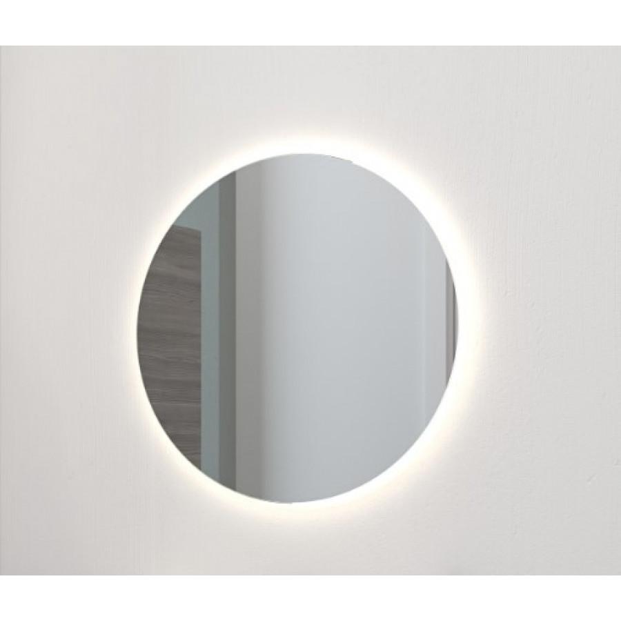 rundt spejl med lys Rundt spejl med LED lys   Ø75cm   Scanbad rundt spejl med lys