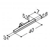 Scanbad Stratos LED lampe fra 40 cm til 120 cm til spejl eller spejlskab med lysstyring