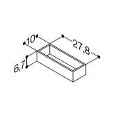 Scanbad bakker til skuffer til Velvet vaskeskab - 10 x 6,7 x 24,8 cm