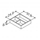 Scanbad bakker til skuffer i Karat, Azure, Aure og Facet vaskeskabe - 24,9 x 6,7 x 27,8 cm