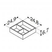 Scanbad bakker til skuffer til Velvet vaskeskab - 25 x 6,7 x 24,8 cm