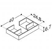 Scanbad bakker til skuffer til Velvet vaskeskab - 40 x 6,7 x 24,8 cm