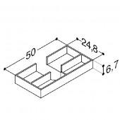 Scanbad bakker til skuffer til Velvet vaskeskab - 50 x 6,7 x 24,8 cm