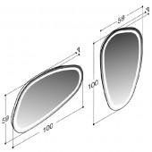 Scanbad ovalt solospejl med integreret LED lys - 59 x 100 cm uden lysstyring - Scanbad Delta