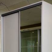 Basic-line Skydedør med spejl - 80 cm