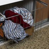 Vasketøjskurv 40 cm til skydedøre