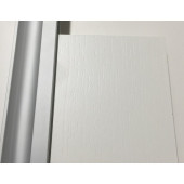Basic-line Standard skydedør i hvid struktur - Bredde 80 cm