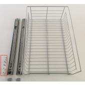 Trådkurv 40cm Inkl. fuldudtræksskinner og beslag BEMÆRK: Sæt med 2 stk