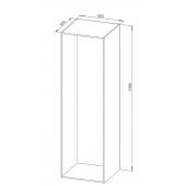 60cm skabsmodul hvid melamin D:560 x H:1985mm u-samlet u/bagbeklædning