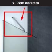 Scanbad Arm til fastvæg model D80,D90,D100,D120,D140 samt I120 - 600mm
