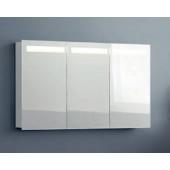 Scanbad spejlskab med integreret lys i top - H 64 / 70 x B 117 / 120 x D 19 cm - Multo - BEMÆRK: 3 LÅGER