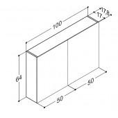 Scanbad spejlskabe uden belysning - 100 x 64 x 17,8 cm Inkl. lysstyring