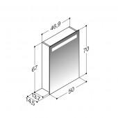 Scanbad spejlskabe med integreret belysning i top - 46,9 x 67 x 14,5 cm - uden lysstyring