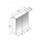 Scanbad spejlskabe uden belysning - 60 x 64 x 17,8 cm Inkl. lysstyring
