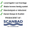 Scanbad Delta med Velvet porcelænsvask og skuffer - H 69 x B 82 x D 50 cm