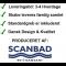 Scanbad spejlskab med integreret belysning i top - 116,9 x 67 x 14,5 cm - 3 låger uden lysstyring