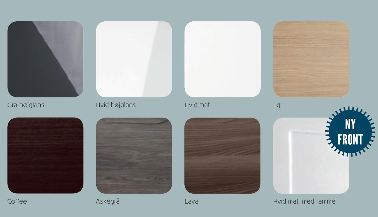 Scanbad Delta badeværelser findes i hele 8 flotte front typer