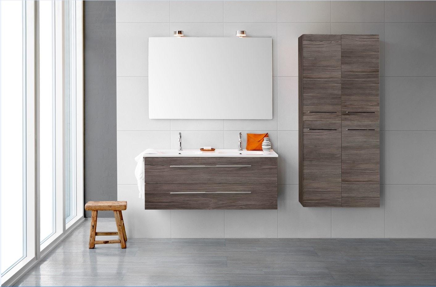 Delta med Karat vask - flotte badeværelser med tynd porcelænsvask