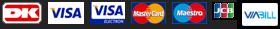 Vi modtager disse kreditkort.